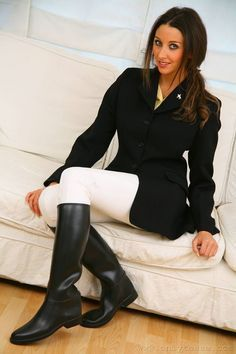 Black Rubber Riding Boots