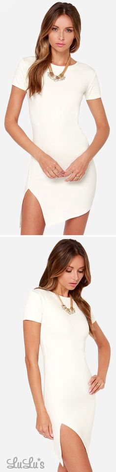 Got The Power Short Sleeve Ivory Dress