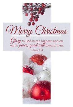 Merry Christmas - Glory to God Cross Design Bookmarks, 25  -
