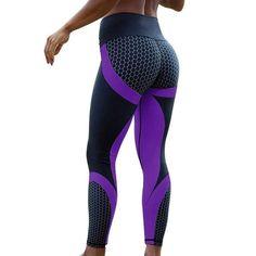 2018 Hot Honeycomb Printed Yoga Pants Women Push Up Sport Leggings Professional Running Leggins Sport Fitness Tights Trousers Gym Pants, Running Pants, Mesh Leggings, Tight Leggings, Leggings Are Not Pants, Workout Leggings, Women's Leggings, Cheap Leggings, Skinny Pants