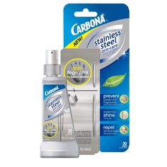 Carbona Stainless Steel pro-care to keep steel appliances shiny