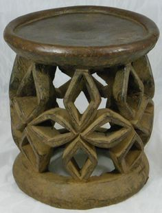 Superb,African Tribal Art, Bamileke Chief Stool,Antique,African Art,No Reserve!