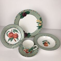 Victoria & Beale L'Amour Dinner Plate Soup Bowl Salad Plate Cup Saucer 5 Piece  #VictoriaBeale