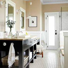 88 Amazing DIY Bathroom Vanity Makeover You Should Try - About-Ruth Cozy Bathroom, Bathroom Renos, Master Bathroom, Neutral Bathroom, Modern Bathroom, Narrow Bathroom, Remodel Bathroom, White Bathroom, Bathroom Vintage