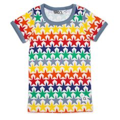 Bright Stars T-Shirt by Boys & Girls Shop, an edgy East London Children's Clothing Brand, offering Organic Cotton Kids Clothes. Sold by Modern Rascals.