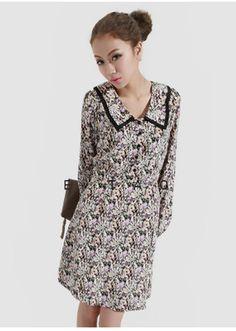 Shivering Shusu Vintage Lapel Dress - Sheinside.com