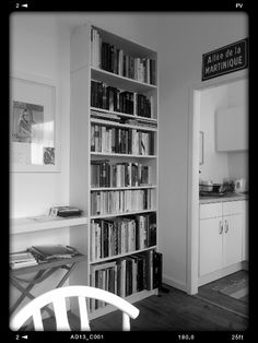 Books can be anywhere, even in the kitchen