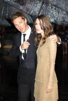 Lovely photo of Benedict Cumberbatch and Keira Knightley via @dailyexpressuk #ImitationGame#LFF