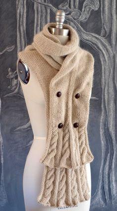 Woodglen Scarf Knitting Pattern (PDF) from Etsy Shop sadieandoliver ($5.00 CAD)