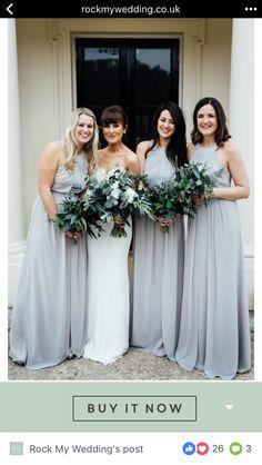 4dd1edba407 Grey Bridesmaid dress with tulle skirt
