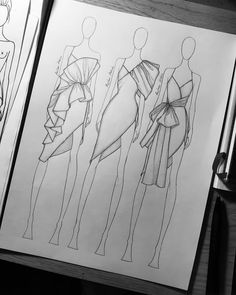Fashion design sketches 395753886008335414 - Source by Dress Design Drawing, Dress Design Sketches, Fashion Design Sketchbook, Fashion Design Portfolio, Fashion Design Drawings, Drawing Sketches, Drawing Tips, Fashion Design Illustrations, Dress Drawing