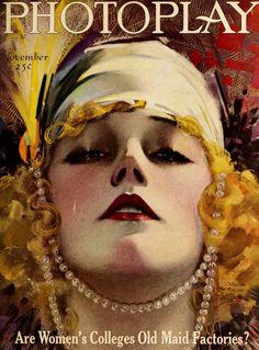Marion Davies Photoplay Magazine Cover Portrait.