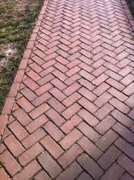 New House Front Brick Herringbone Pattern Ideas Brick Paver Patio, Brick Pathway, Brick Paving, Front Walkway, Backyard Patio, Backyard Landscaping, Brick Sidewalk, Brick Patterns, House Front