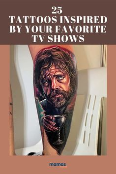 25 Incredible Tattoos Inspired by Your Favorite TV Shows  Fans, eat your heart out. These 25 tattoos inspired by TV shows are some of the most creative tattoo designs we've ever seen.  #Tattoos #TVShows #Friends #TwinPeaks #TheSimpsons #GameofThrones