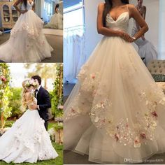 Hayley Paige 2017 Elegant 3d Appliques Wedding Dresses With Spaghetti Straps Tiereds Skirt Handmade Flowers Garden Country Wedding Gowns Lace Gowns Latest Wedding Dresses From Gaogao8899, $165.83| Dhgate.Com