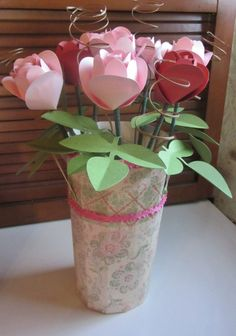 Wouldn't you love to give this as a special gift to Mom or your sister or best friend!  Beth did a beautiful job making the Roses and Pail from the MOM'S GARDEN GIFTS SVG KIT.