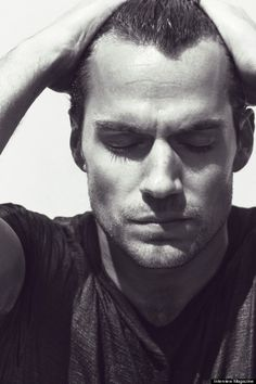 henry cavill black and white eyes closed - Google Search