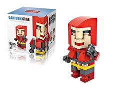Cartoon Star X-MEN Magneto 3D Cube Micro World Series Minifigure Diamond Nano Block 73 PCS @ niftywarehouse.com