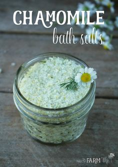 Skin soothing chamomile bath salts recipe
