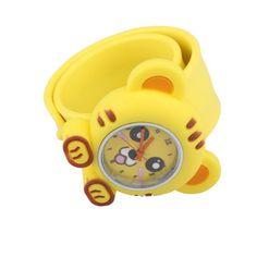NEW Digital Slap Watch Cute Cat Slap Wrist Watches for Kids Yellow