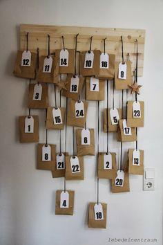 lebe-deinen-Traum: 24 Tütchen bis Heilig Abend .... DIY- Adventskalender ....