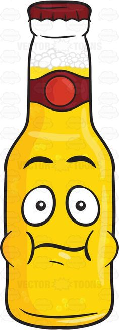 Bottle Of Beer With Puffed Cheeks Emoji #adultdrink #beer #beerbelowzero #beerbottle #beercap #beverage #bloated #booze #boozing #bottle #brew #brewage #cap #coldbeer #drink #drinkable #drinking #drunkenness #food #liquor #malt #puff #puffed #puffy #shocked #startled #swollen #vector #clipart #stock