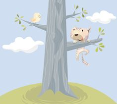 Cat on a tree Kids Rugs, Cats, Illustration, Home Decor, Gatos, Decoration Home, Kid Friendly Rugs, Room Decor, Illustrations