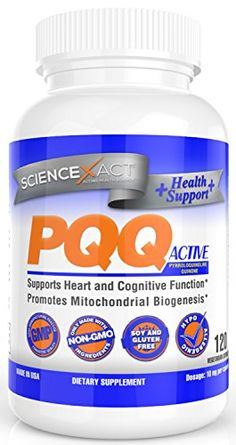 PQQ 10 Mg, 120 Vegetarian Capsules, NON - GMO and Hypoallergenic Pure Pyrroloquinoline Quinone >>> Click on the image for additional details.