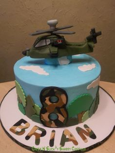 Apache Helicopter Birthday Cake