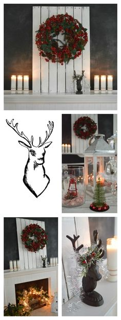 Red, White, Black DIY and Budget Decorating Ideas - Christmas at Fox Hollow Cottage