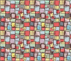 Messy Squares fabric by hollywood_royalty on Spoonflower - custom fabric