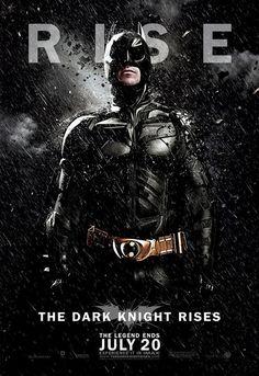 The Dark Knight Rises Rain Character Poster: Batman = SLAYER