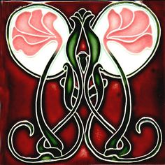 Art Nouveau Tiles - Sweetpea. I need to find a way to put some of these in my bathroom!