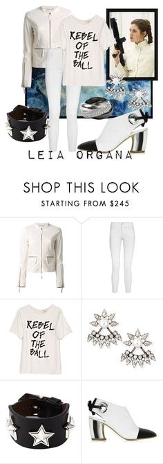 """""""Rebel Leader"""" by raecycle ❤ liked on Polyvore featuring Roberto Cavalli, STELLA McCARTNEY, Ashish, DANNIJO, Givenchy, Proenza Schouler, Cartier, movies, starwars and LeiaOrgana"""