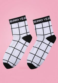 Grid Socks  Yeah Bunny by YeahBunny on Etsy yeahbunny.etsy.com  10% OFF with code YBPINTEREST