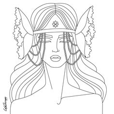 hippie lady to color with Color Therapy: http://www.apple.co/1Mgt7E5  #colortherapyapp #coloring