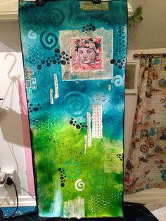 Wallpaper mixed media art