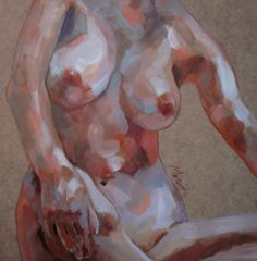 "Saatchi Art Artist: Desdibujando Cristina Martel ; Acrylic 2013 Painting ""Torso II"""
