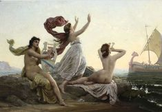 "la-catharsis: ""François-Marie Firmin-Girard - Ulysse et les sirènes (Ulysses and the mermaids) (1864) """