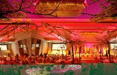 Casamento rosa com tema japones