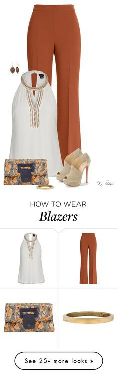 """With or without a blazer?"" by ksims-1 on Polyvore featuring Fendi, City Chic, Christian Louboutin, Pierre Darré, Alexis Bittar and Silver Forest"