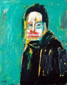"Matt Sesow  ""Self Portrait""  24"" x 30""  oil on stretched canvas (sept 2012)"