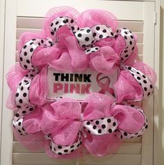 #PinkBuddha Breast Cancer Awareness Wreath