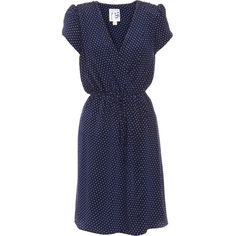 Beyond Vintage Small Stars Dress - Navy size Extra Small ($179) ❤ liked on Polyvore featuring dresses, vestidos, blue dresses, clothing & accessories, women, blue v neck dress, v-neck dresses, short blue dresses, navy dress and short sleeve dress