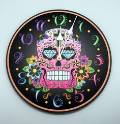 Black Day of the Dead Clock.  $23.95