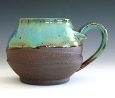 Large Coffee Mug Holds 18 oz handmade ceramic cup by ocpottery, $25.00
