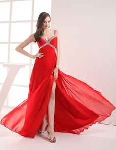 >> Click to Buy << Alice Crystal Long V-neck Chiffon Beaded Sleeveless Robe Abaya Big Gala Party Dresses Prom 2017 #Affiliate