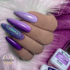 Gorgeous Nails, Pretty Nails, Violet Nails, Almond Nails, Stiletto Nails, Pipe, Manicure, Nail Designs, Nail Manicure