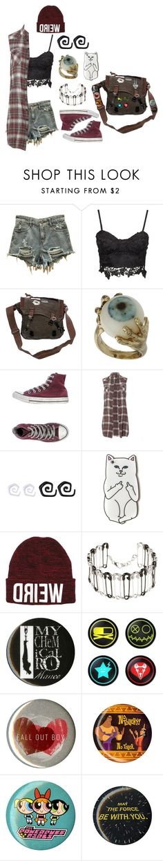 """Pop-Punk"" by causingpanicatthetheater on Polyvore featuring Converse, AllSaints, AS29 and Disney"
