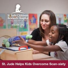 Nine-year-old Kie'a doubles as patient and MRI technologist during medical play. Learn how St. Jude helps kids with sickle cell disease sail through MRI scans.